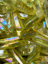 Load image into Gallery viewer, Yellow Aura Quartz Point