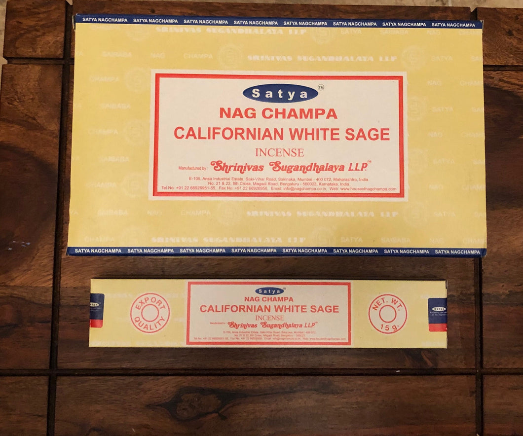 Satya Nag Champa Californian White Sage Incense