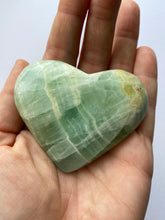Load image into Gallery viewer, Pistachio Calcite Heart
