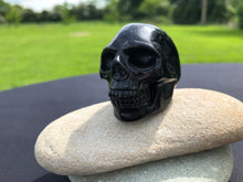 Load image into Gallery viewer, Black Obsidian Skull