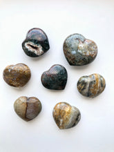 Load image into Gallery viewer, Ocean Jasper Heart - Small and Medium