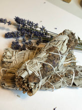 Load image into Gallery viewer, Sage and Lavender Smudge Stick