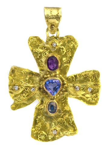 Large Gold Byzantine Cross