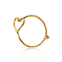 Summer of Love Golden Mini Heart Ring