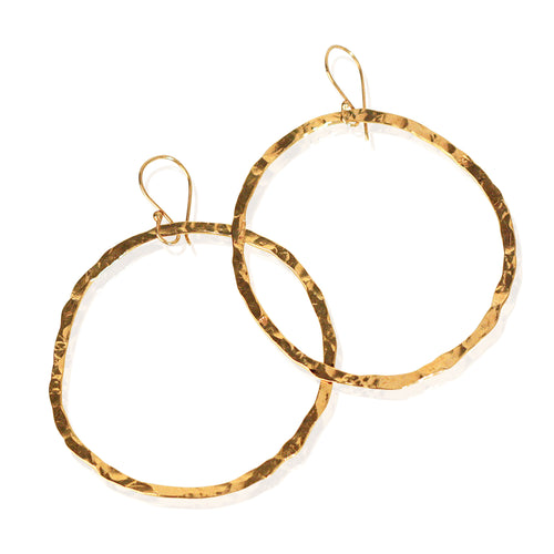 Golden Halo Hoops in 24k gold vermeil