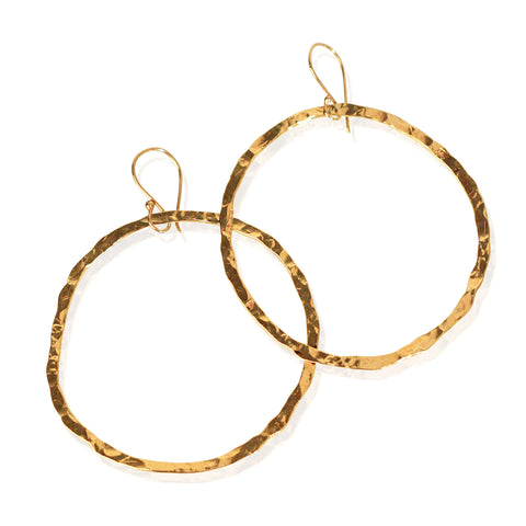 Golden Halo Hoops