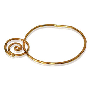 Golden Life Spiral Bangle