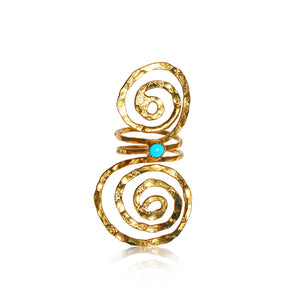 Double Spiral Goddess Ring