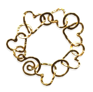 Golden Hearts & Hugs Bracelet