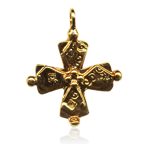 Golden Four Corners Byzantine Cross