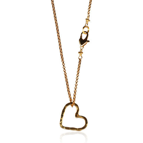 Open Floating Heart Necklace