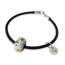 Black Leather & Sterling Silver Bracelet