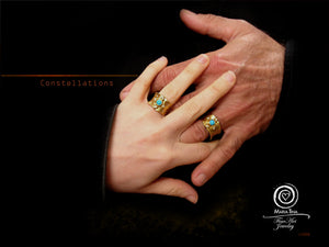 """Constellations"" Wedding Ring Set"