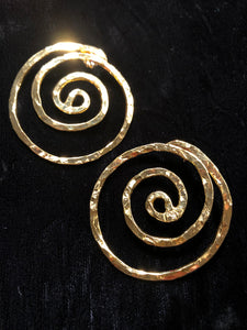 Spiral of Life Earrings - Large