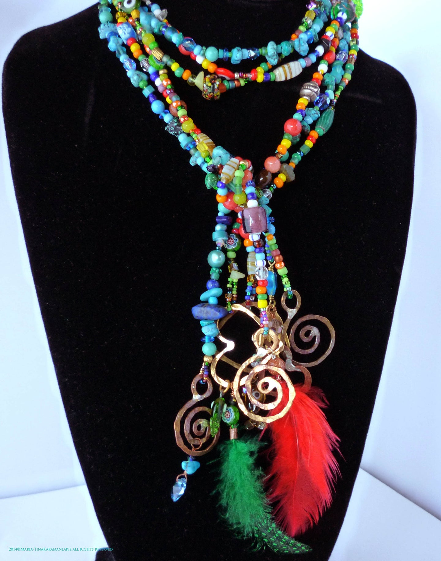 Love Beads Triple Lariat
