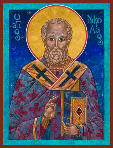 St. Nicholas the Miracleworker -  Giclèe Artisan Canvas Print 9.25