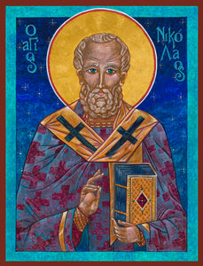 "St. Nicholas the Miracleworker -  Giclèe Artisan Canvas Print 9.25"" x 12.5"""