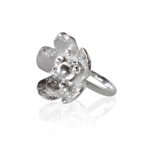 Sterling Silver Flower Power Cocktail Ring