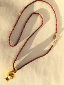 Pomegranate and Garnet Necklace