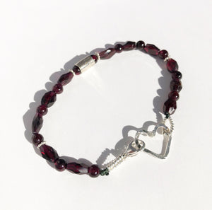 Garnet Prayer Bracelet • Icons of Happiness