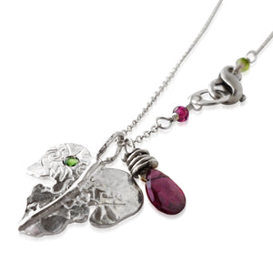 "Fig Leaf ""Siko"" Necklace in Sterling Silver"