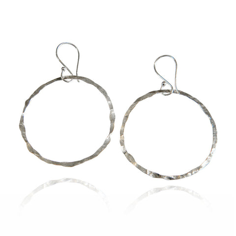 Sterling Halo Hoops