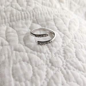 Nourish Flourish Adjustable Ring