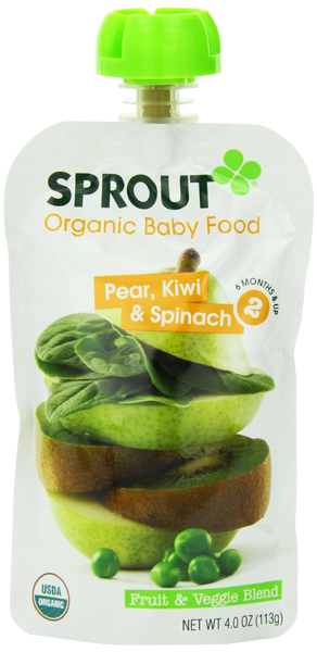 Stage 2 Pear, Kiwi & Spinach - 4 oz