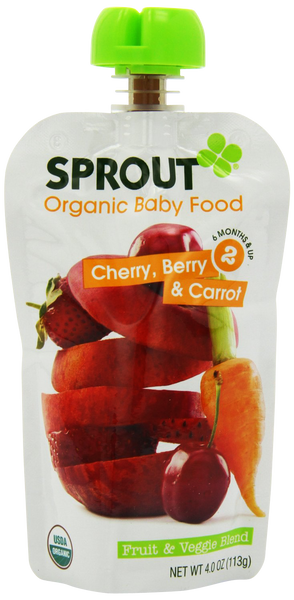 Stage 2 Cherry, Berry & Carrot - 4 oz