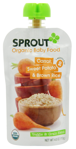 Stage 2 Carrot, Sweet Potato & Brown Rice - 4 oz