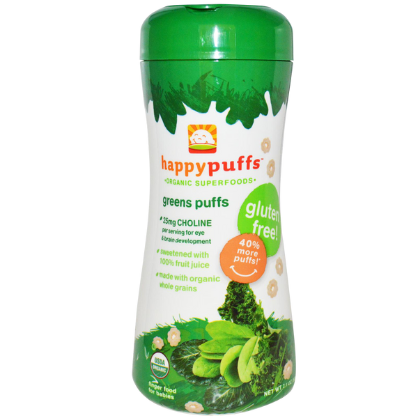 Happy Puffs Green Puffs - 2.10 oz