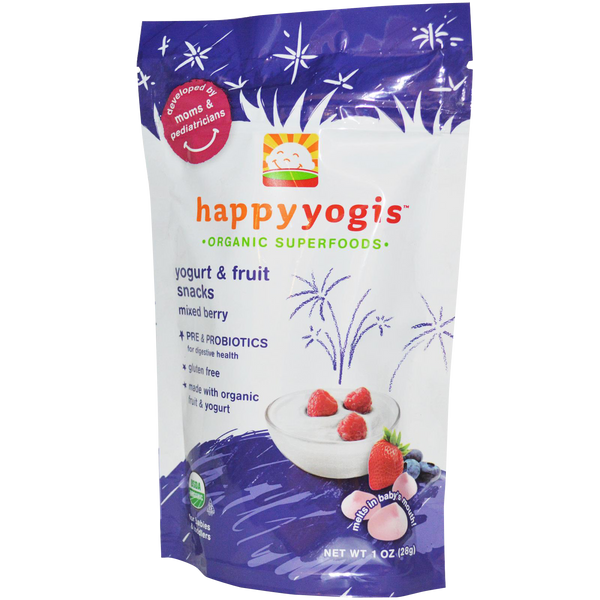 Happy Yogis Yogurt Fruit Snacks - Mixed Berry - 1 oz