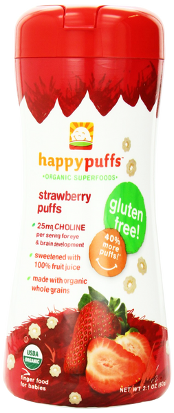 Happy Puffs Strawberry Puffs - 2.10 oz