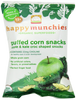 Happy Munchies Apple & Kale Puffed Corn Snack - 1.41 oz
