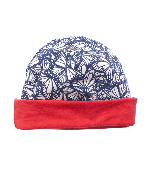 Sale - Girls' Butterfly Print Reversible Beanie