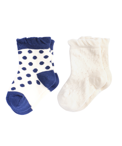 Sale - Girls' Navy Dot 2-Pack