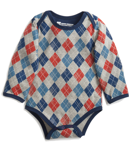 Boys' Argyle Long Sleeve Snapster