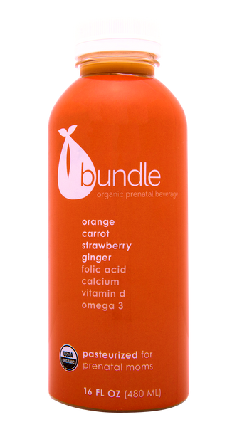 Orange, Carrot, Berry and Ginger Organic Prenatal Juice