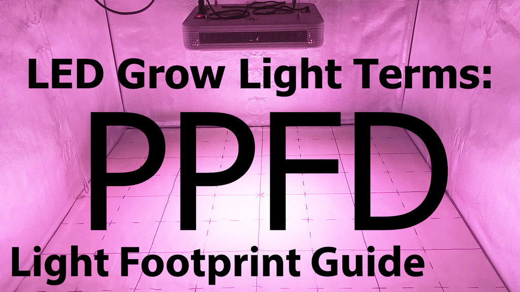 LED Grow Lamps & Light Terms: PPFD (PAR) & Light Footprint Maps