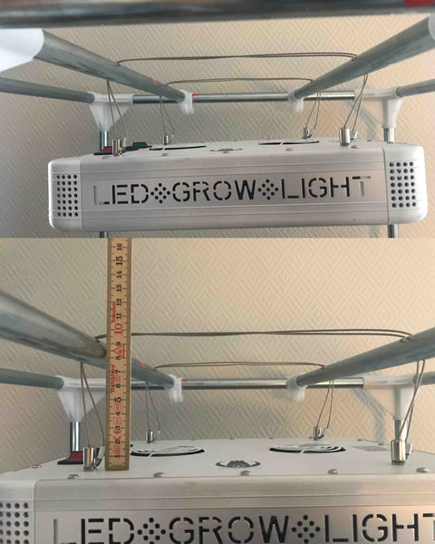 Hang grow light in tight space