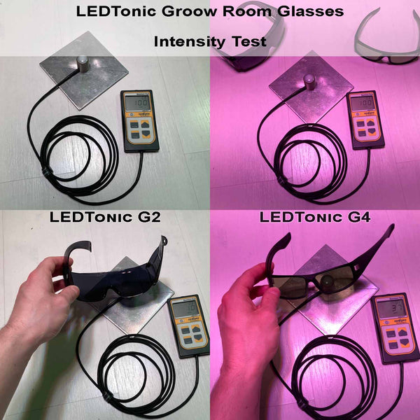 LEDTonic G2 and G4 Grow Room Glasses Comparison