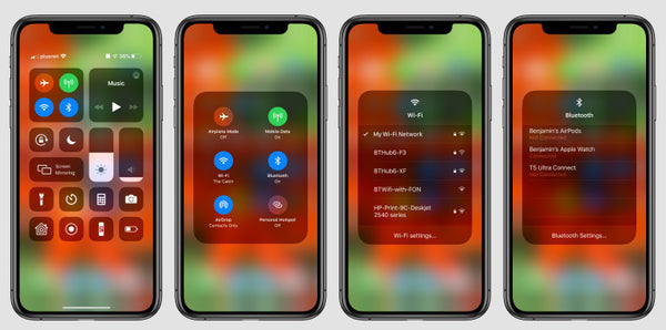 How to change Wi-Fi networks from Control Center in iOS 13