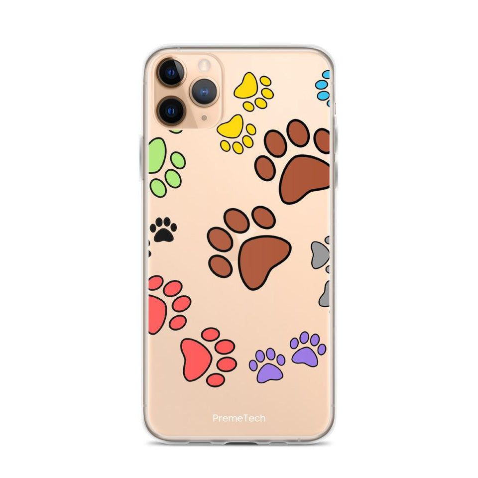 iPhone 11 Pro Max Paw Print iPhone Case