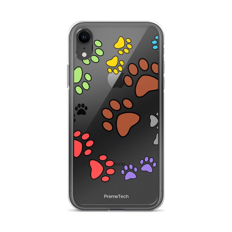 iPhone XR Paw Print iPhone Case
