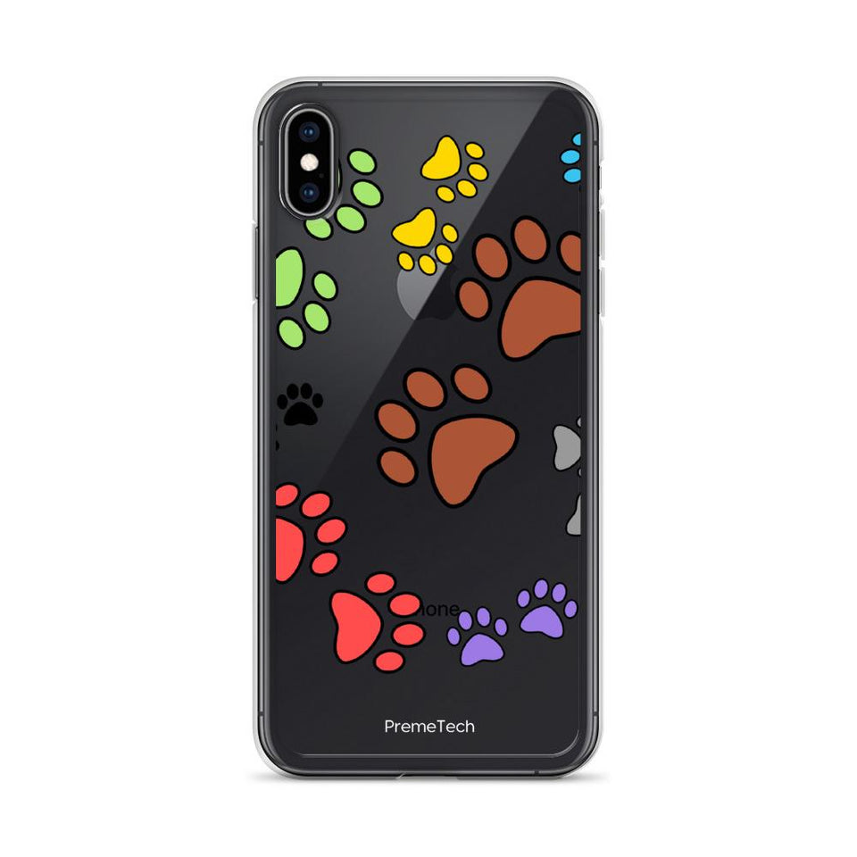 iPhone XS Max Paw Print iPhone Case