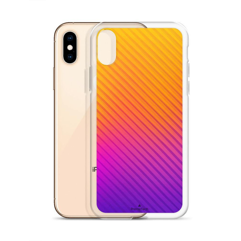 PremeTech Abstract Orange to Purple iPhone Case