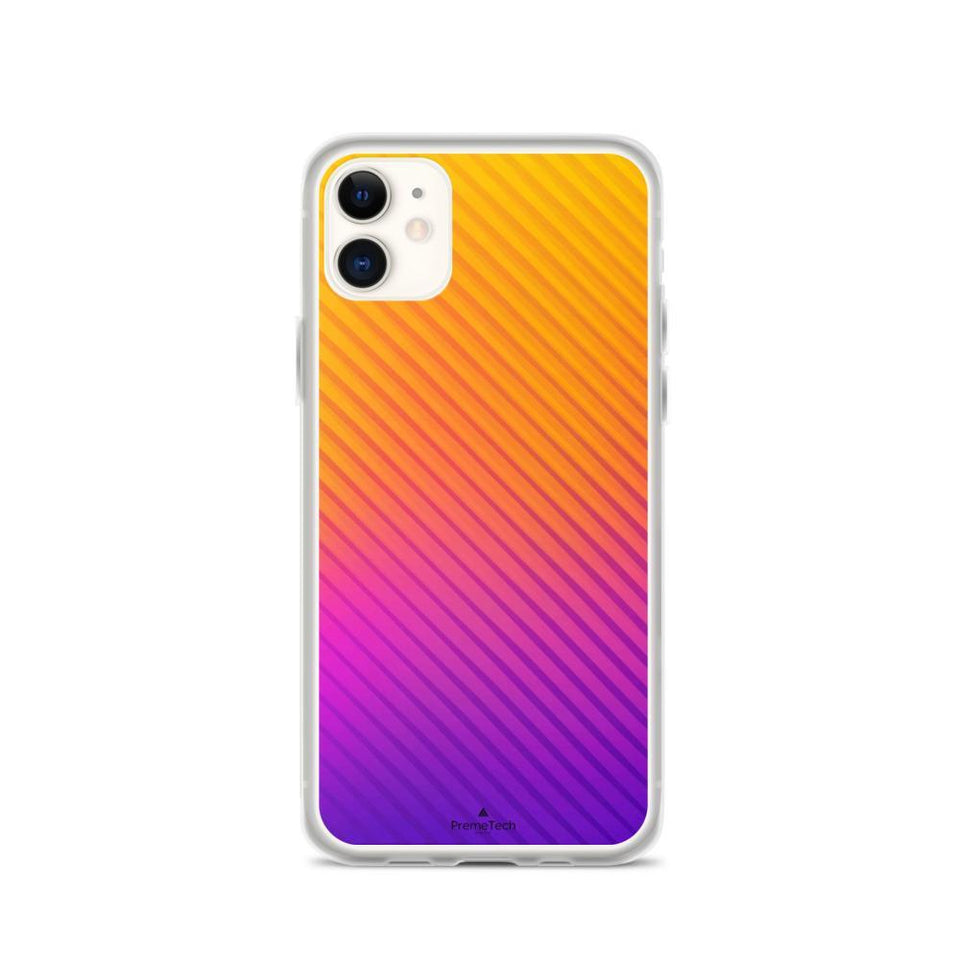 PremeTech iPhone 11 Abstract Orange to Purple iPhone Case