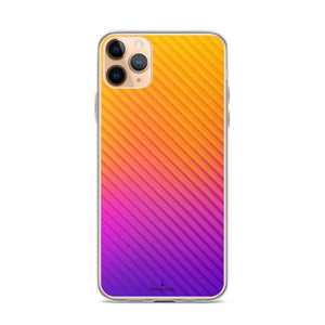PremeTech iPhone 11 Pro Max Abstract Orange to Purple iPhone Case