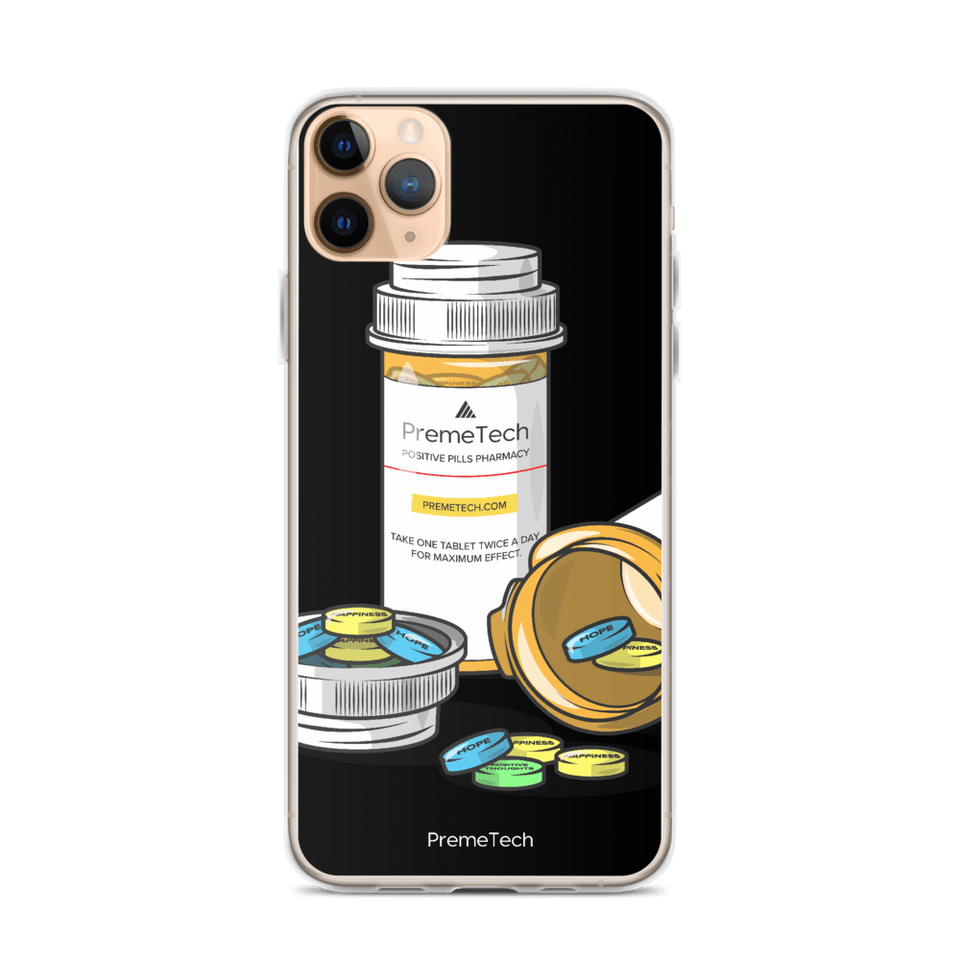 PremeTech iPhone 11 Pro Max Positive Pills iPhone Case
