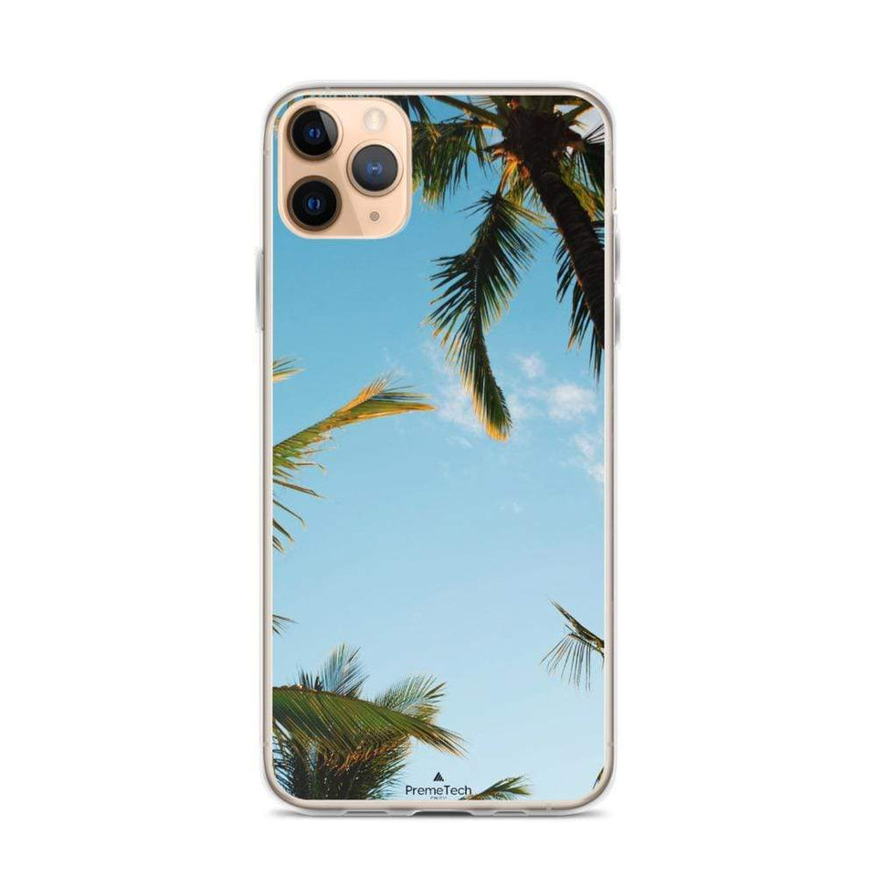 PremeTech iPhone 11 Pro Max Sunshine and Palm Trees iPhone Case
